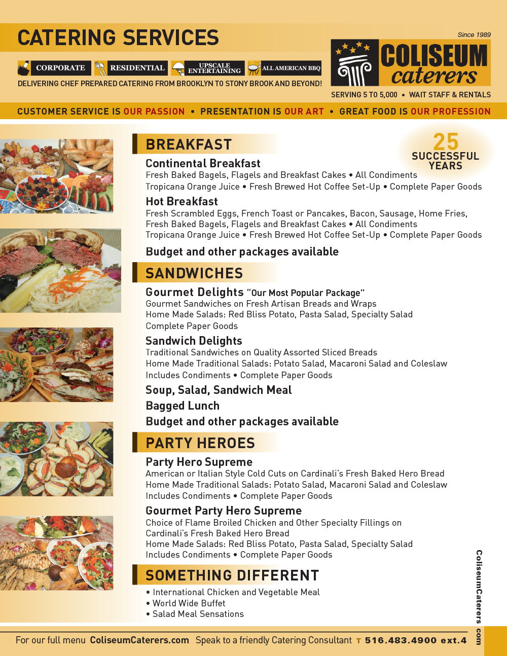 Catering Services | Coliseum Kitchen & Caterers