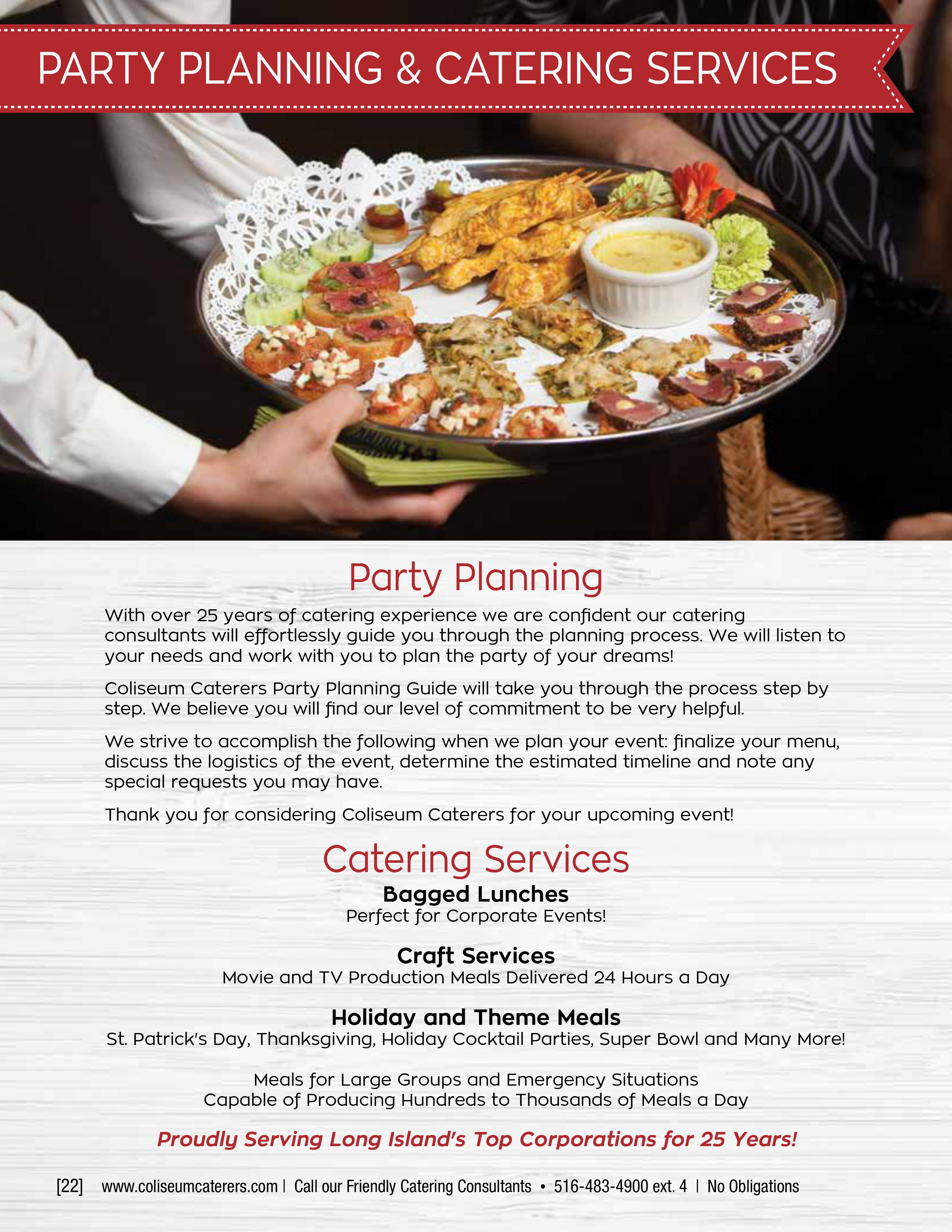 Custom Catering | Coliseum Kitchen & Caterers
