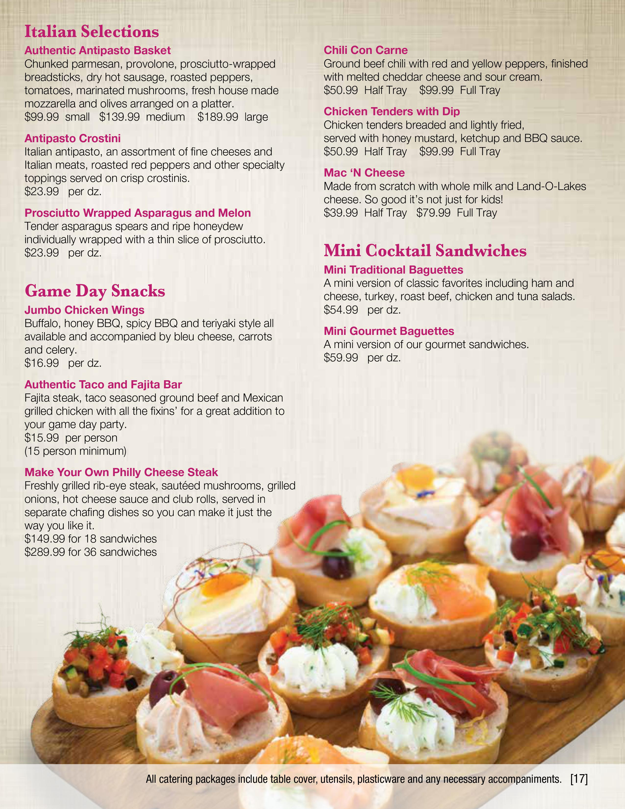 Hors D\'Oeuvres & Appetizers | Coliseum Kitchen & Caterers