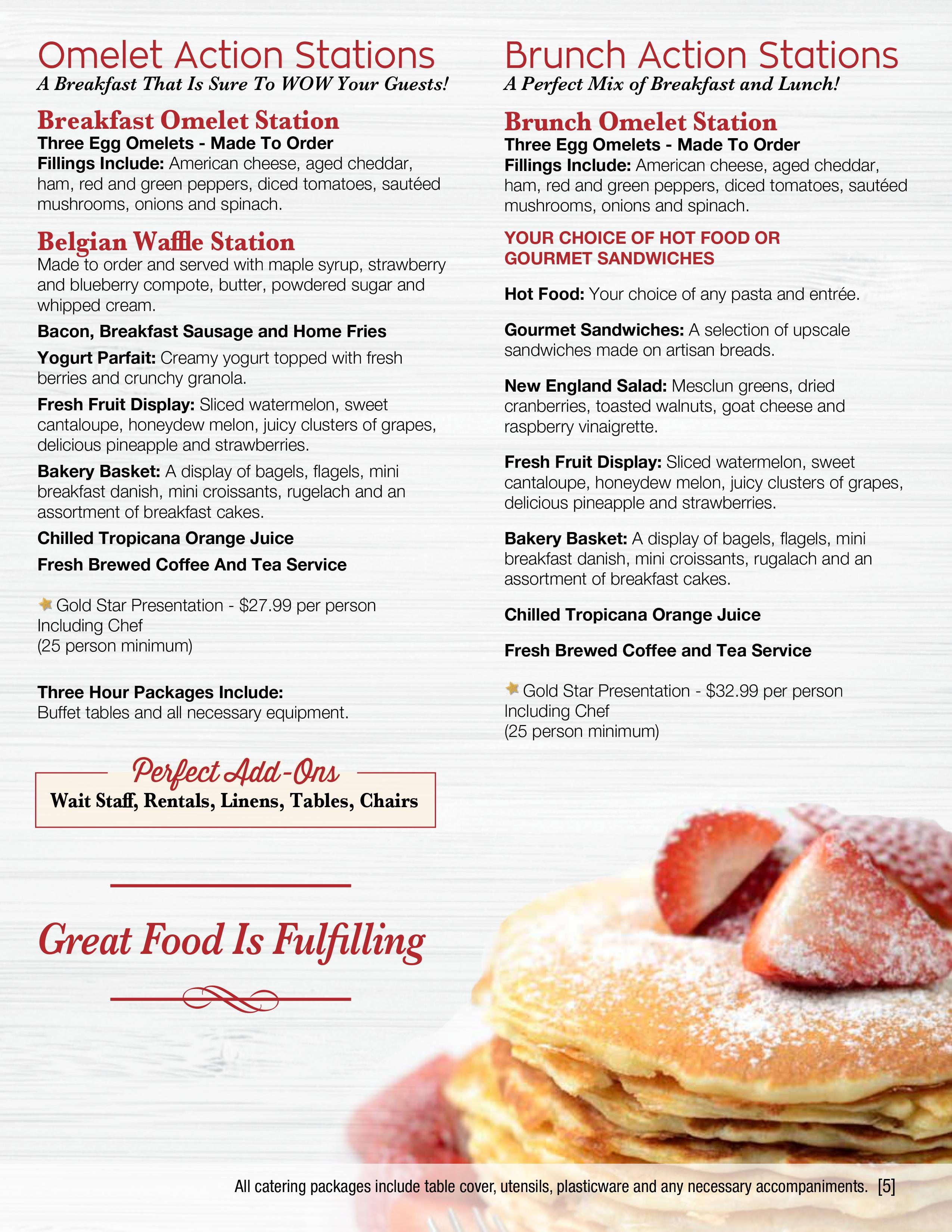 Omelet & Brunch Stations | Coliseum Kitchen & Caterers